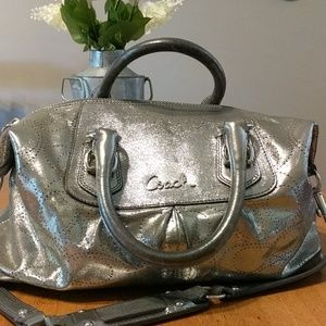 Metallic Silver Coach